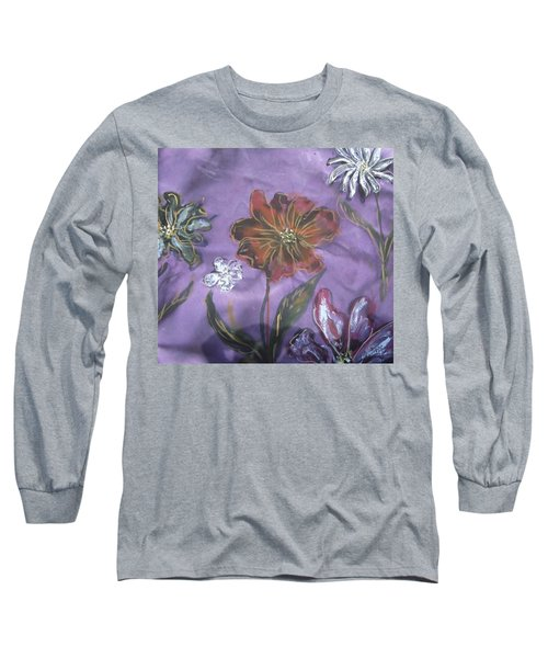 Flowers On Silk Long Sleeve T-Shirt