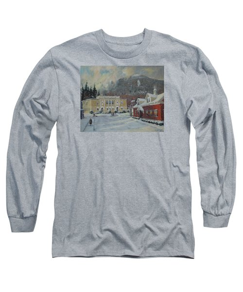 Flurries Over Mount Greylock Long Sleeve T-Shirt
