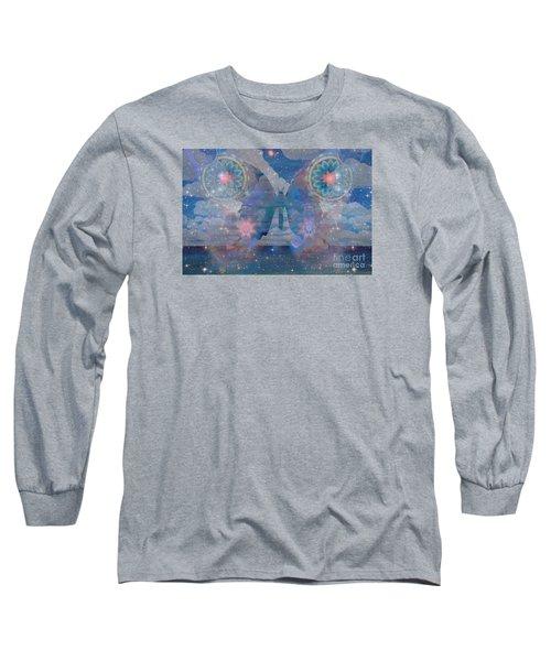 Flutterby Meditation Long Sleeve T-Shirt