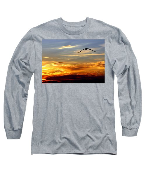 Long Sleeve T-Shirt featuring the photograph Fly Free by Faith Williams