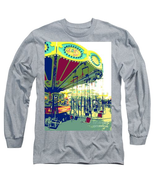 Flying Chairs Long Sleeve T-Shirt by Valerie Reeves