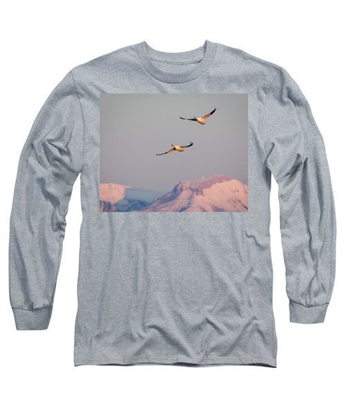 Long Sleeve T-Shirt featuring the photograph Flying High by Jack Bell