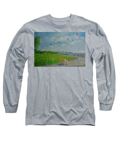 Flying Kites Newport Ri Long Sleeve T-Shirt