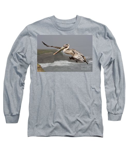 Flying Over La Jolla Long Sleeve T-Shirt by Bryan Keil