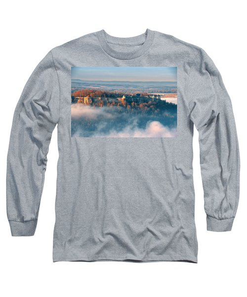 Fog Around The Fortress Koenigstein Long Sleeve T-Shirt