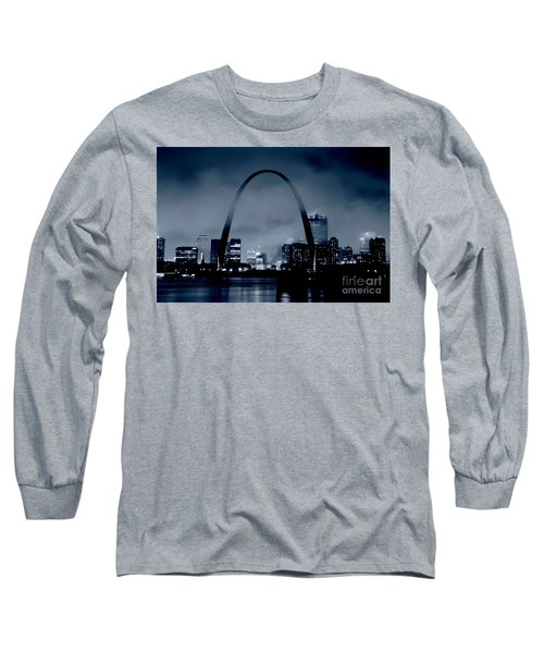Fog Over St Louis Monochrome Long Sleeve T-Shirt