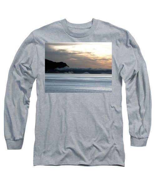 Long Sleeve T-Shirt featuring the photograph Fog Roll Sunset by Jennifer Wheatley Wolf