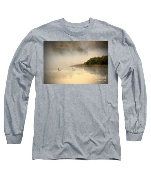 Foggy Autumn Swim Long Sleeve T-Shirt