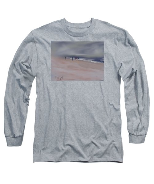 Fog On Folly Field Beach Long Sleeve T-Shirt