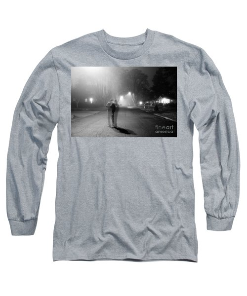 Long Sleeve T-Shirt featuring the photograph Foggy Night by Michael Cross