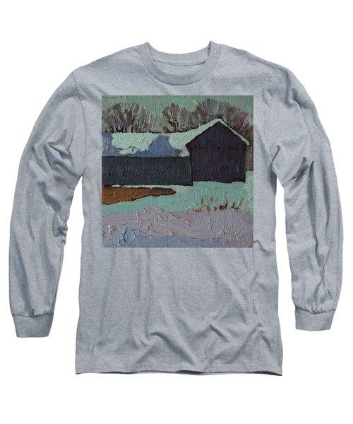 Foley Mountain Farm Long Sleeve T-Shirt by Phil Chadwick