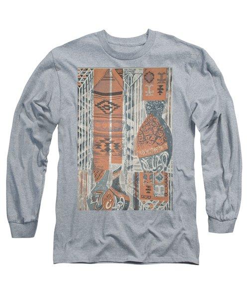 Folk Arabic Symbols Long Sleeve T-Shirt