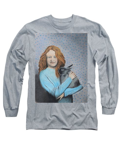 Long Sleeve T-Shirt featuring the painting For The Love Of Bunny by Jeanne Fischer