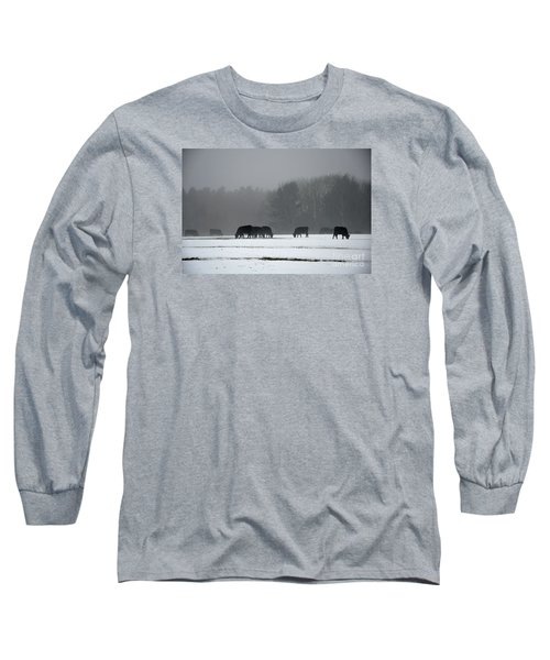 Long Sleeve T-Shirt featuring the photograph Foraging by Glenn Gordon