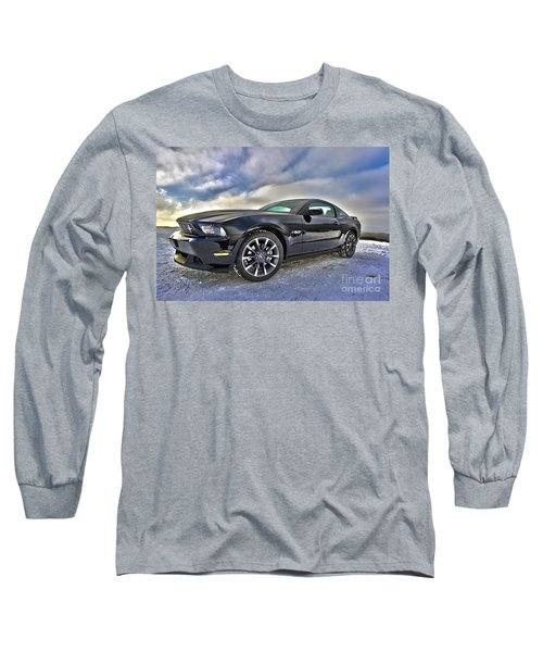 Long Sleeve T-Shirt featuring the photograph ford mustang car HDR by Paul Fearn