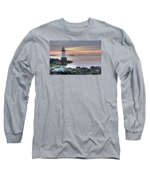 Fort Pickering Lighthouse At Sunrise Long Sleeve T-Shirt by Juli Scalzi