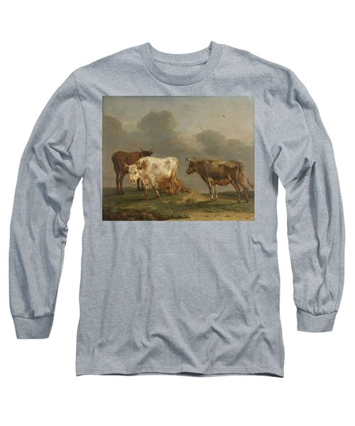 Four Cows In A Meadow Long Sleeve T-Shirt