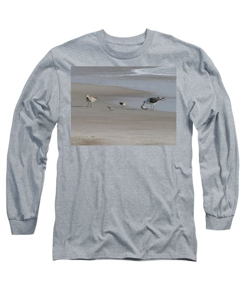 Four Feathers And A Fish Long Sleeve T-Shirt by Ellen Meakin