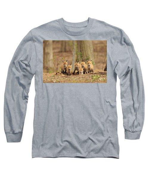 Fox Family Portrait Long Sleeve T-Shirt