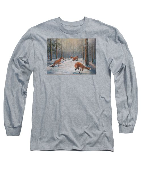 Forest Games Long Sleeve T-Shirt by Donna Tucker