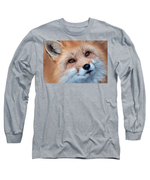 Foxy Lady Long Sleeve T-Shirt by Bianca Nadeau