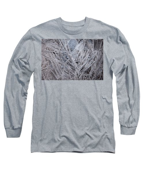 Frozen Fractal Long Sleeve T-Shirt by Leeon Pezok