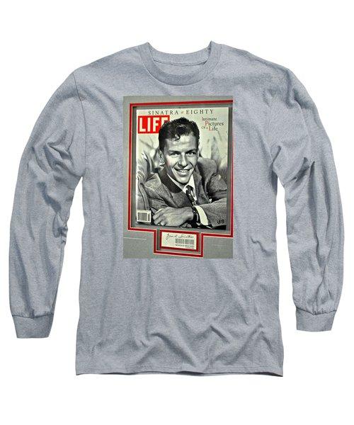 Frank Sinatra Life Cover Long Sleeve T-Shirt by Jay Milo