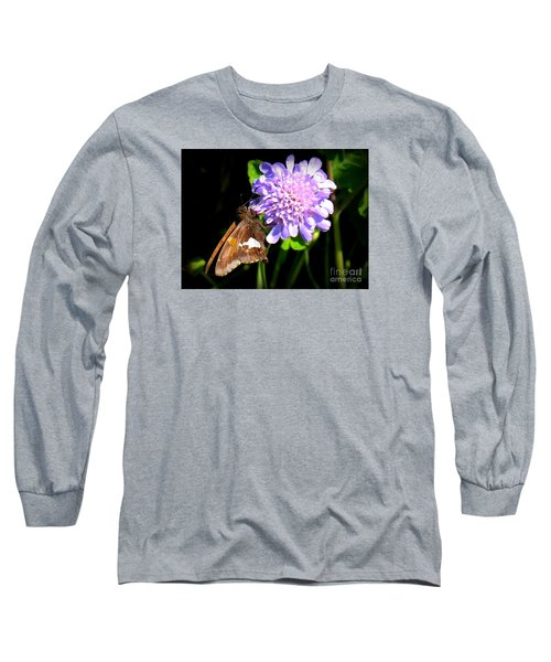 Long Sleeve T-Shirt featuring the photograph Silver Spotted Skipper by Patti Whitten