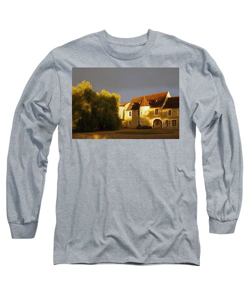 French House At Sunset Long Sleeve T-Shirt