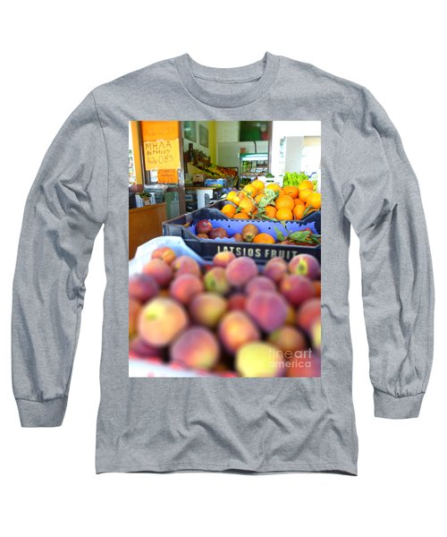 Fresh Fruit Long Sleeve T-Shirt by Vicki Spindler