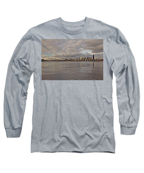 from Alki Beach Seattle skyline Long Sleeve T-Shirt