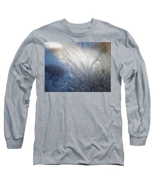 Long Sleeve T-Shirt featuring the photograph Frost Ferns by Joy Nichols