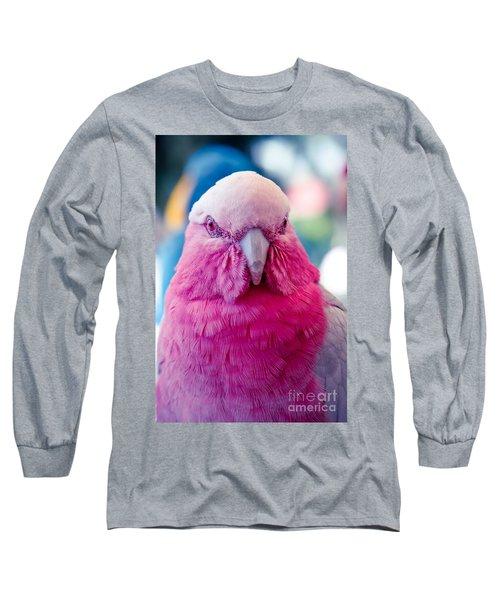 Galah - Eolophus Roseicapilla - Pink And Grey - Roseate Cockatoo Maui Hawaii Long Sleeve T-Shirt