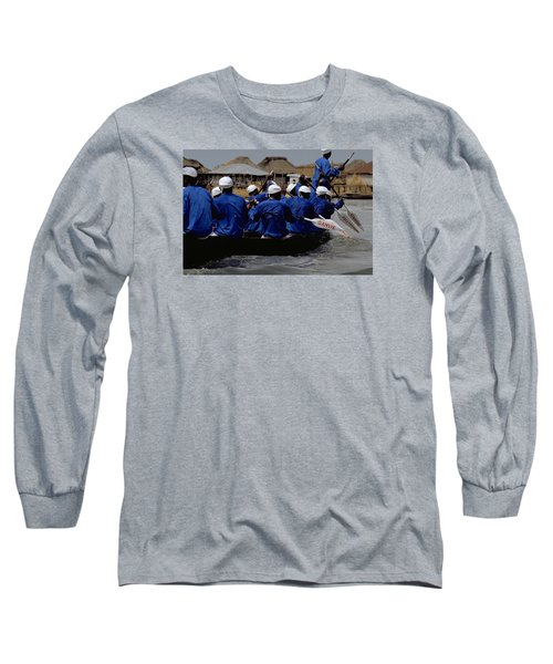 Long Sleeve T-Shirt featuring the photograph Ganvie - Lake Nokoue by Travel Pics