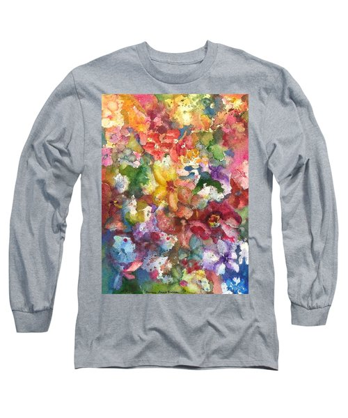 Garden - The Secret Life Of The Leftover Paint Long Sleeve T-Shirt by Anna Ruzsan