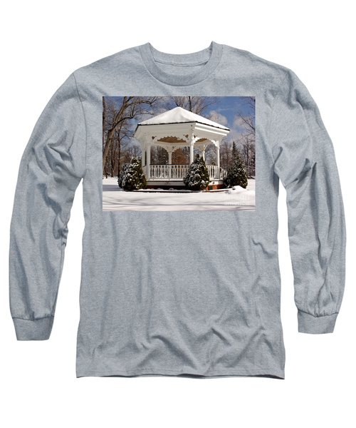 Gazebo At Olmsted Falls - 2 Long Sleeve T-Shirt