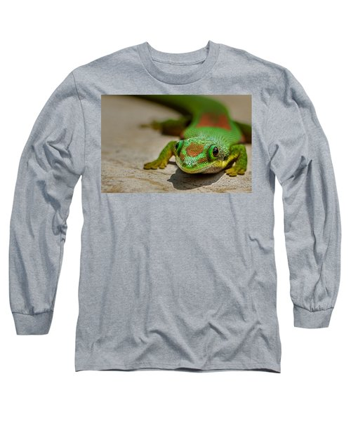 Gecko Portrait Long Sleeve T-Shirt