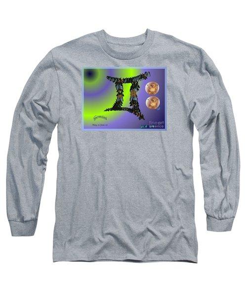 Long Sleeve T-Shirt featuring the digital art Gemini by The Art of Alice Terrill