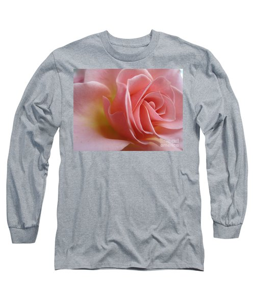 Gentle Pink Rose Long Sleeve T-Shirt