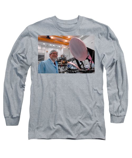 Long Sleeve T-Shirt featuring the photograph George F. Smoot With Planck Obs. Mirrors by Science Source