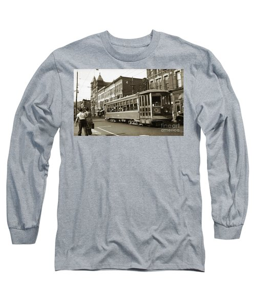 Georgetown Trolley E Market St Wilkes Barre Pa By City Hall Mid 1900s Long Sleeve T-Shirt