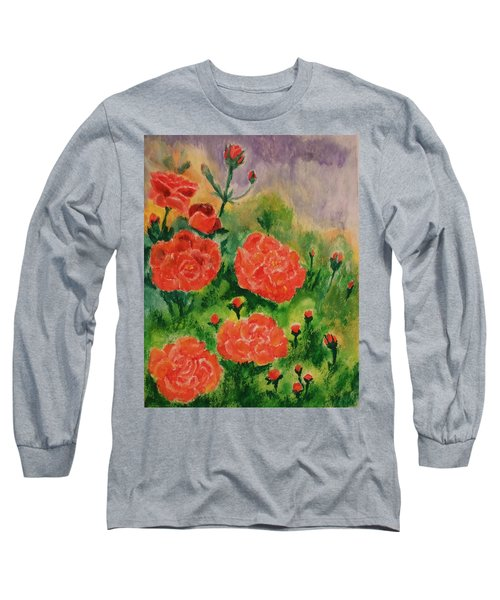 Geraniums Long Sleeve T-Shirt by Christy Saunders Church