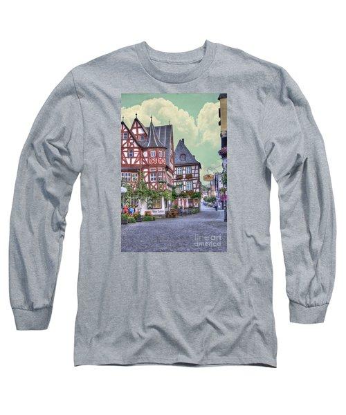 German Village Along Rhine River Long Sleeve T-Shirt