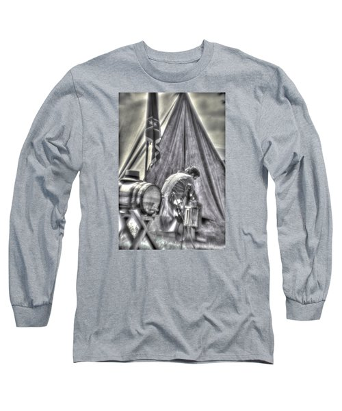 Long Sleeve T-Shirt featuring the photograph Gettysburg In The Camp - Counting The Losses by Michael Mazaika
