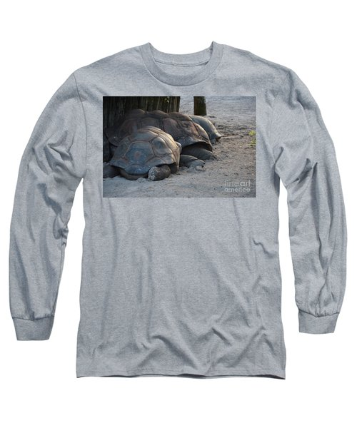 Long Sleeve T-Shirt featuring the photograph Giant Tortise by Robert Meanor