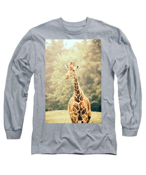Giraffe In The Rain Long Sleeve T-Shirt