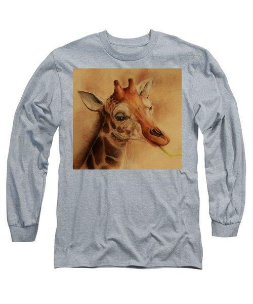 Giraffe Long Sleeve T-Shirt by Jean Cormier
