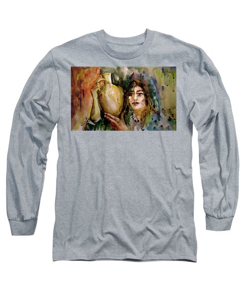 Girl With A Jug. Long Sleeve T-Shirt
