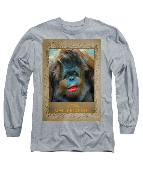 Long Sleeve T-Shirt featuring the photograph Give Us A Little Kiss by Paula Ayers