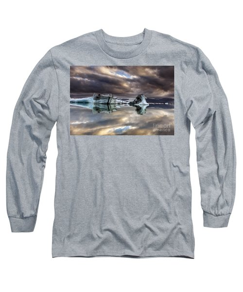 Glacier In Water Long Sleeve T-Shirt